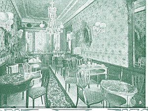Giacosa's Tea Room, Florence, 1903