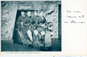 Marjorie's postcard of the Salt Mine in Salzburg, 1903