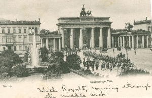 Marjorie's Postcard of the Brandenburg Gate